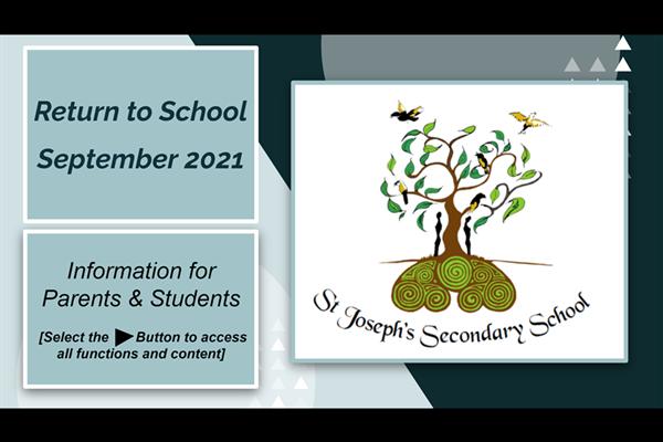 Safe Return to School August/Sept 2021