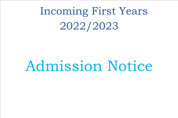 Application Forms Incoming First Years  2022-23