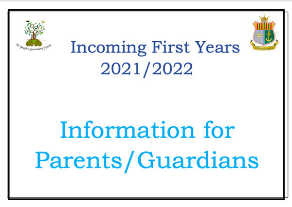 Information for Parents of Incoming First Years 2021/2022