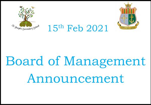 Board of Management Announcement