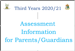 Assessment Information for Third Year Students