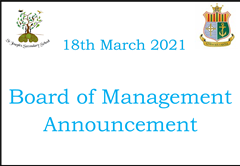 Board of Management Announcement 18th March 2021